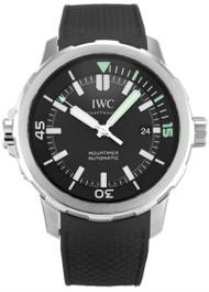 IWC Schaffhausen Aquatimer Black Dial Black Rubber Mens Watch IW329001