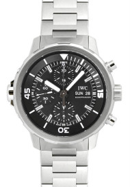 IWC Schaffhausen Aquatimer Chronograph Black Dial Mens Watch IW376804