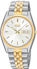 Seiko SGF204 Core Silver Dial LumiBrite Index Men Two-Toned SS Watch