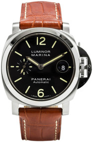 Panerai Luminor Marina Black Dial Automatic Swiss Men's Watch PAM00048