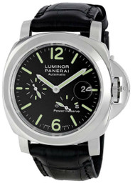 Panerai Luminor Power Reserve Black Dial Swiss Men's Watch PAM00090