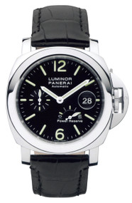 Panerai Luminor Power Reserve Black Dial Swiss Men's Watch PAM00090