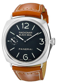 Panerai Radiomir Black Seal Acciaio Black Dial Men's Watch PAM00183