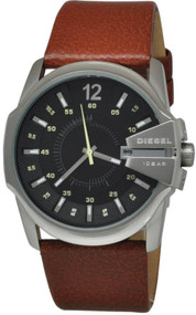 Diesel Master Chief Analog Black Dial Leather Date Men's Watch DZ1617