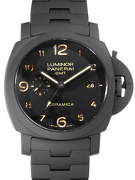 Panerai Luminor 1950 Tuttonero 3 Days GMT Ceramica Men Watch PAM00438