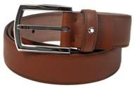 Montblanc 109753 Classic Line Cognac Color Saffiano Men's Leather Belt