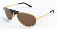 Cartier Santos Dumont 61mm Gold Rimmed Men's Sunglasses T8200889