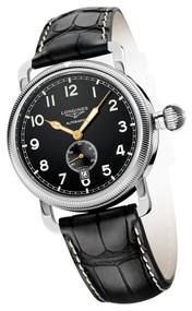Longines Heritage Mechanical Black Men Watch L27774530 / L2.777.4.53.0