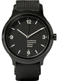Mondaine MH1.B1221.NB Helvetica No1 Bold IP Blk Men Black Nylon Watch