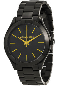 Michael Kors MK3221 Slim Runway Black-Tone Steel Women's Watch