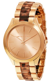 Michael Kors MK4301 Slim Runway Rose Gold-Tone Acetate Women's Watch