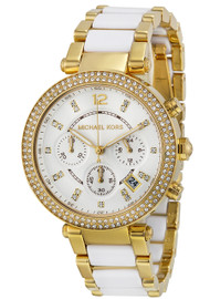 Michael Kors MK6119 Parker Pave Glitz Gold-tone Acetate Women's Watch
