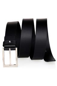 Montblanc 107674 Casual Line Rectangular Buckle Men Black Leather Belt