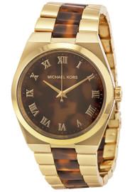Michael Kors MK6151 Channing Gold-tone Tortoise Acetate Women's Watch