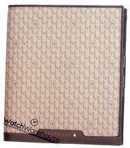 Montblanc 111114 Signature Medium Brown Leather & Fabric Notebook
