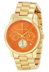 Michael Kors MK6162 Runway Chronograph Orange Dial Women's SS Watch