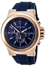 Michael Kors Dylan Chronograph Blue Silicone Strap Men's Watch MK8295