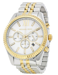 Michael Kors Lexington Chronograph Date Two-tone Men's Watch MK8344
