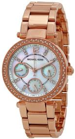 Michael Kors Parker Mini Rose Gold-tone Glitz Women's Watch MK5616