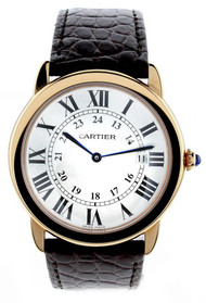 Cartier Ronde Solo De Silver Dial Brown Leather Unisex Watch W6701008
