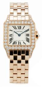 Cartier Demoiselle Diamond 18KY Gold Silver Dial Unisex Watch WF9002Y7