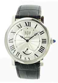 Cartier Rotonde Power Reserve Date Black Leather Men Watch W1556369