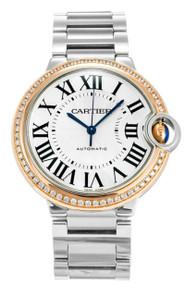 Cartier Ballon Bleu 18KT RoseGold Diamonds Auto Women Watch WE902081