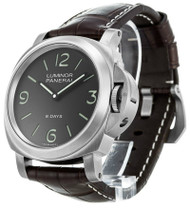 Panerai * Luminor Base 8 Days Titanio 44MM Leather Men Watch PAM00562