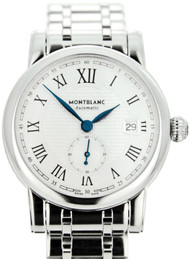 Montblanc Star 40MM Silver Dial Steel Automatic Men's Watch 111912