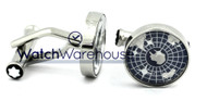 Montblanc Iconic Constellations Sapphire Glass Steel Cuff Links 113000