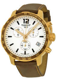 Tissot Quickster Chronograph Brown Leather Men's Watch T0954173603702