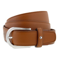 Montblanc 109758 Classic Line Brown Color Saffiano Men's Leather Belt