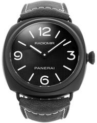 Panerai Radiomir Ceramica 45MM Black Leather Swiss Men Watch PAM00643