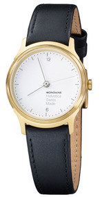 Mondaine MH1.L1111.LB Helvetica No1 Light Women Black Leather Watch