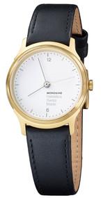 Mondaine MH1.L1111.LB Helvetica No1 Light Women Black Leather Watch