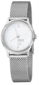 Mondaine MH1.L1110.SM Helvetica No1 Light White Dial Women Mesh Watch