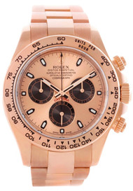 Rolex Cosmograph Daytona  Pink Dial Oyster Perpetual Men's Watch 116505