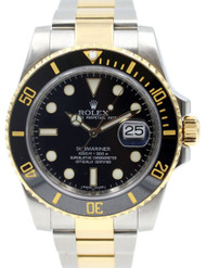 Rolex 116613 Black Dial Oyster Perpetual Submariner Date Men's Watch