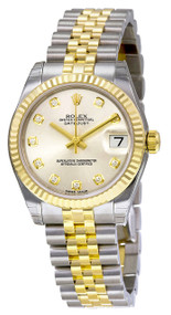 Rolex Silver Dial Oyster Perpetual DateJust 31 Women's Watch 178273