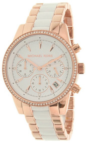 Michael Kors MK6324 Ritz Crystals Bezel Women's Rosegold Steel Watch