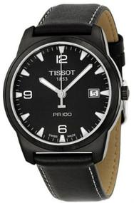 Tissot T0494103605700 Espace Montres Black Dial Men's Leather Watch