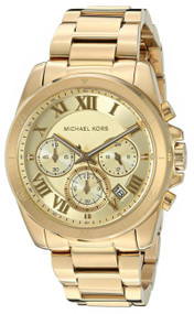 Michael Kors Brecken Chronograph MK6366 Women's Gold Toned Steel Watch