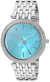 Michael Kors Darci Turquoise Pearl Dial Crystals MK3515 Women's Watch
