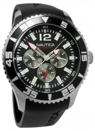 Nautica NST 07 Multifunction Black Rubber Band Men's Watch N11086G