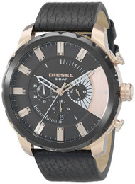 Diesel Stronghold Chronograph Black Dial Rosegold SS Men Watch DZ4347