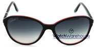 Cartier Double C Decor Black Red Composite Women Sunglasses ESW00109