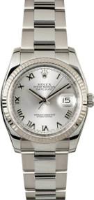 Rolex Datejust 36 Oyster Roman Silver Dial Automatic Men Watch 116234