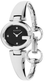 Gucci Guccissima SM Black Sun-Brushed Dial 3 DIA Women Watch YA134505