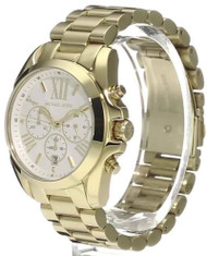 Michael Kors Bradshaw Oversize Chronograph Gold SS Unisex Watch MK6266