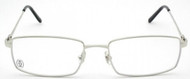 Cartier Decor C Rectangular Shape Metal Men Optical Glasses T8100660